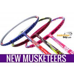 New Three Musketeers Bundling (3 Rackets): 1x Abroz Nano Power Z-Light, 1x Apacs Blend Duo 88 Pink, 1x Yonex - Nanoray Light 8i iSeries Badminton Racket