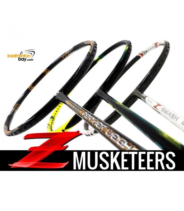 Z Musketeers Bundling (3 Rackets): 1x Abroz Nano Power Z-Smash 6U, 1x  Apacs Feather Weight X SPECIAL (XS)  8U, 1x Yonex Astrox 2 Black Yellow 5U-G5