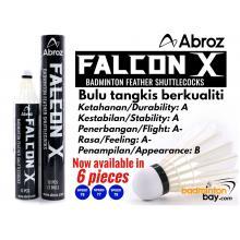 Abroz Falcon X Badminton Feather Shuttlecocks Speed 76 or Speed 77 or Speed 78 ( in 6 pieces or 12 pieces in a tube )