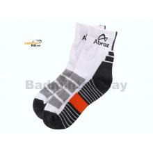 Abroz Badminton Sports Socks SC120 Dark Grey Orange (1 pair)