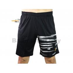 Apacs Dri-Fast Quick Dry Sport Shorts Pants BSH105 Black Silver With 2 Pockets