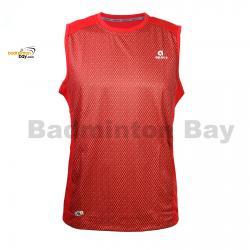 Apacs Dri-Fast AP10056 Red Sleeveless T-Shirt Quick Dry Sports Jersey