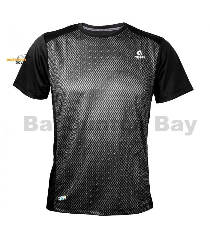 Apacs Dri-Fast AP10107 Black T-Shirt Quick Dry Sports Jersey