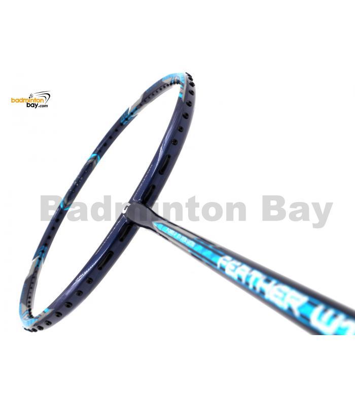 Apacs Feather Weight 55 Navy Blue Badminton Racket (8U) Worlds Lightest Badminton Racket
