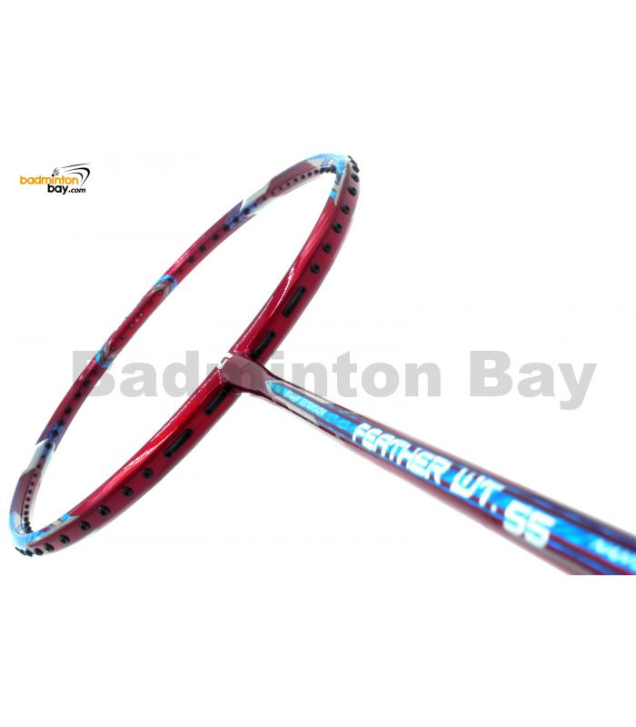 Apacs Feather Weight 55 Red Badminton Racket (8U) World Lightest Badminton Racket