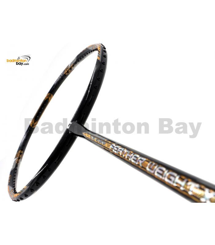 Apacs Feather Weight X SPECIAL (XS) Black Gold Badminton Racket (8U) Worlds Lightest Badminton Racket