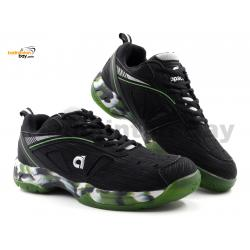 Apacs Cushion Power SP-608F II Black Green Grey Badminton Shoes With Improved Cushioning