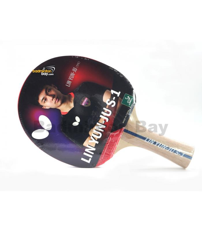 Butterfly Lin Yun-Ju S-1 Shakehand Table Tennis Wood Racket Preassembled With Rubber