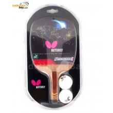 Butterfly Nitchugo-I Penhold Table Tennis Wood Racket Preassembled With Rubber (One Side Rubber)
