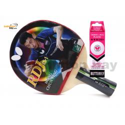 Butterfly RDJ-CS1 Penhold Table Tennis Racket Ping Pong Bat With A40 Balls