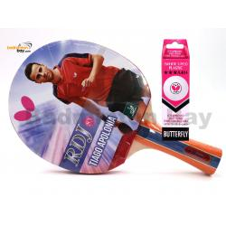Butterfly RDJ-S3 FL Shakehand Table Tennis Racket Ping Pong Bat With A40 Balls