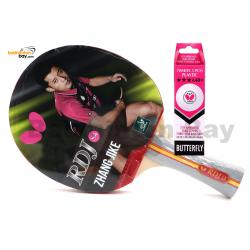 Butterfly RDJ-S4 FL Shakehand Table Tennis Racket Ping Pong Bat With A40 Balls