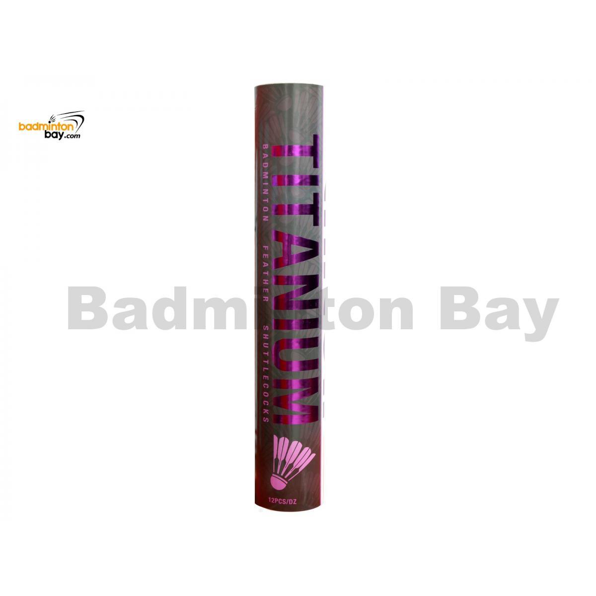 Linton - Titanium Badminton Feather Shuttlecock (Speed 3 / 77)