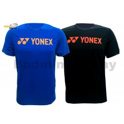 2 Pieces - Yonex - Round Neck T-Shirt Quick Dry Sports Jersey Dry Fast RM-S092-1007A Black And Blue