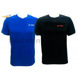 2 Pieces - Yonex - Round Neck T-Shirt Quick Dry Sports Jersey Dry Fast RM-S092-1018A Black And Blue