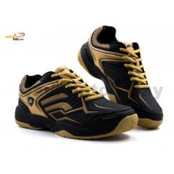 Yonex Akayu S Black Matte Gold Badminton Shoes In-Court With Tru Cushion Technology