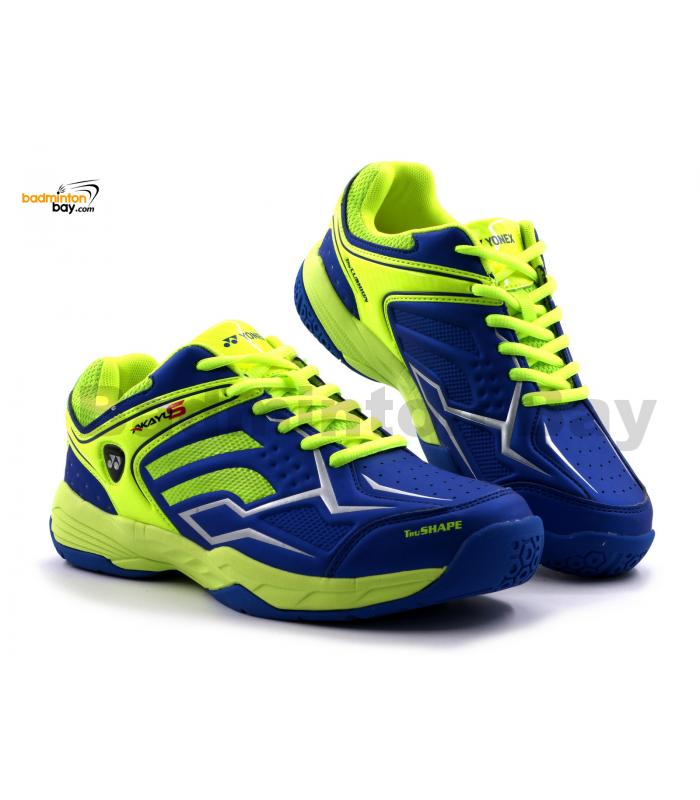 Yonex Akayu S Blue Neon Lime Green Badminton Shoes In-Court With Tru Cushion Technology