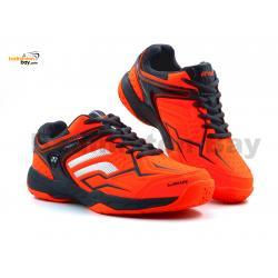 Yonex Akayu S Neon Orange Grey Badminton Shoes In-Court With Tru Cushion Technology