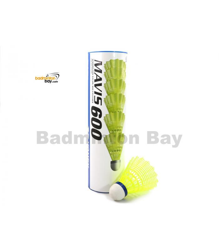 Yonex Mavis 600 Plastic Nylon Badminton Blue Cap Medium Speed Shuttlecocks (6 pieces)